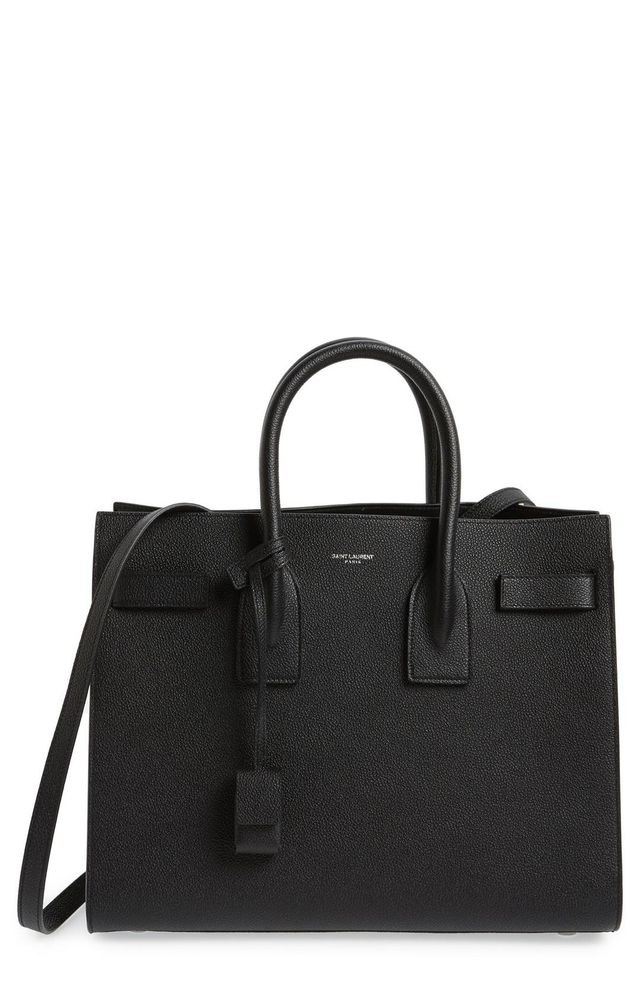 Small Sac de Jour Leather Tote in Black