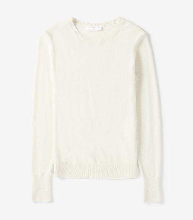 Women's Cashmere Crew Sweater by Everlane in Bone, Size XS
