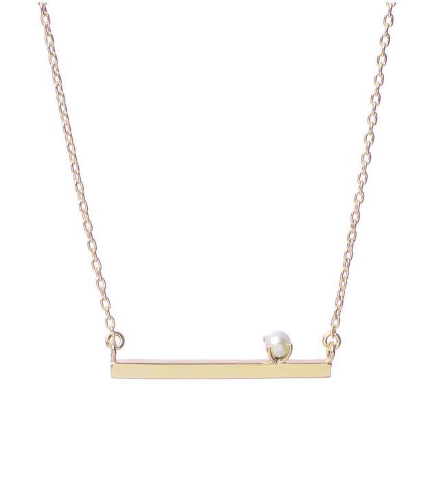 Bing Bang Pearl Bar Necklace