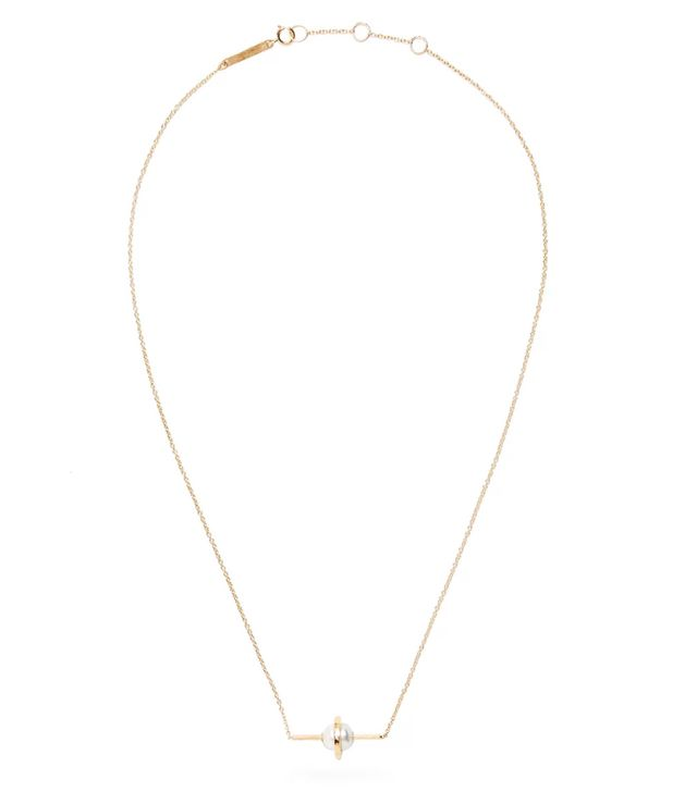 Pearl & yellow-gold necklace