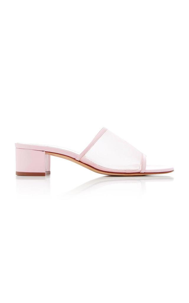 Sophie Leather-Trimmed Mesh Sandals