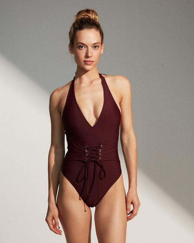 Corset One-Piece Swimsuit