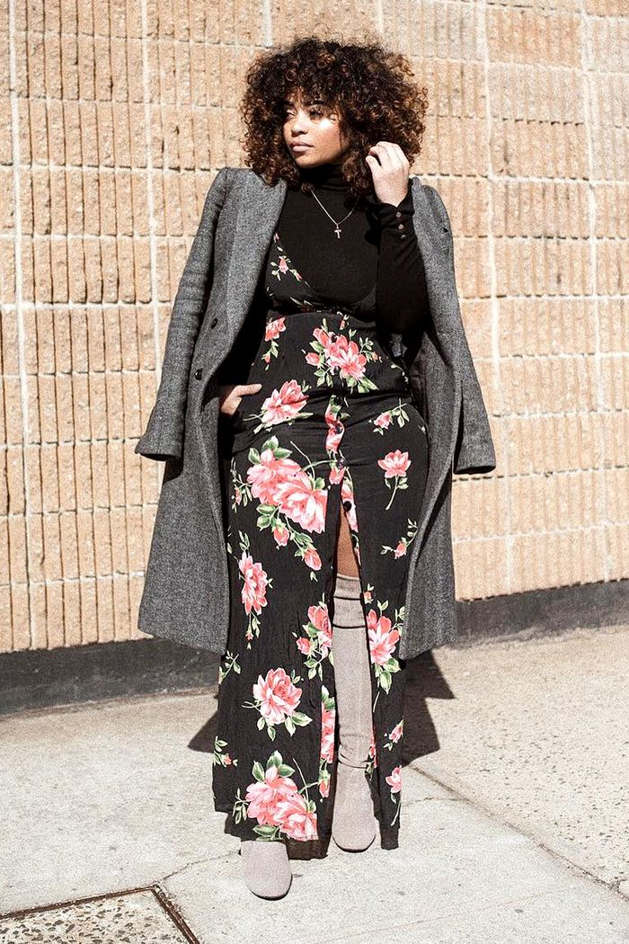 Business Casual Outfits for Spring—Floral Maxi Dress