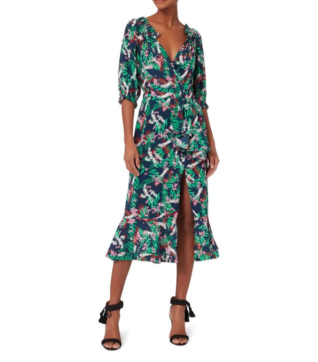 Saloni Olivia Midi Dress Green 4