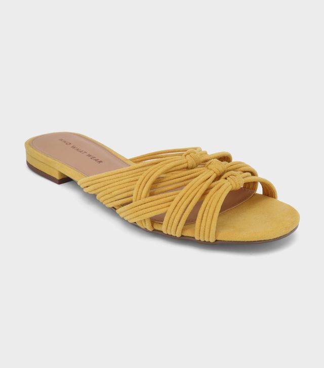 Who What Wear Finley Knotted Slide Sandal