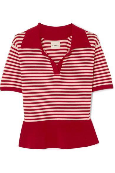Georgia Striped Wool-blend Sweater