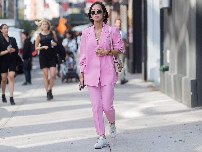 I've Discovered the Trick to Easing Yourself Into the Pastel Suits Trend