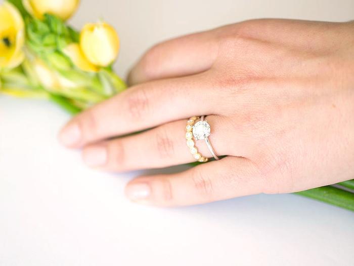 Minimal engagement ring