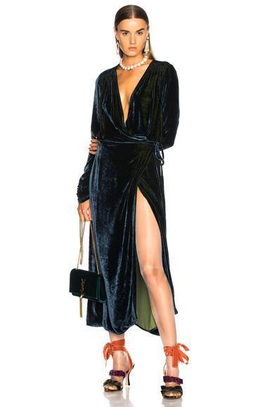 Victoria 3 Velvet Robe Dress
