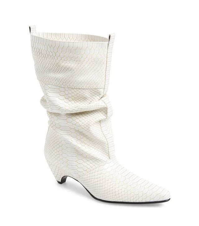 Stella McCartney Python Embossed Slouch Boot