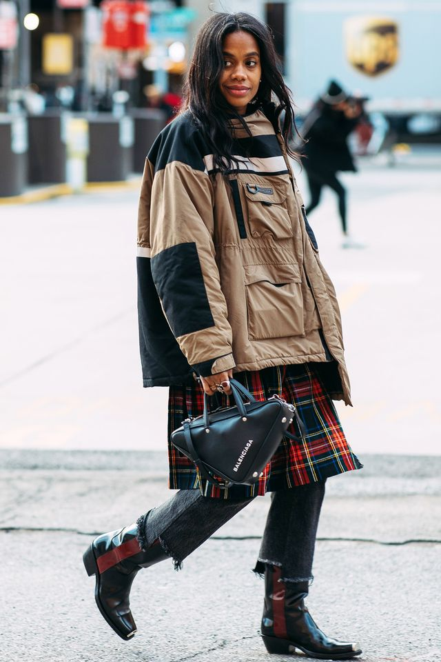 plaid outfits for spring street style