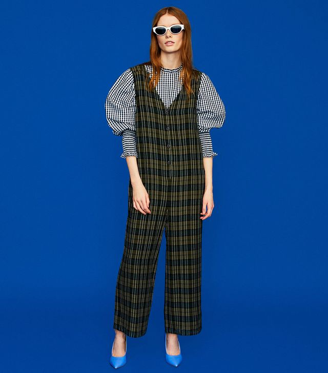 Zara Check Jumpsuit