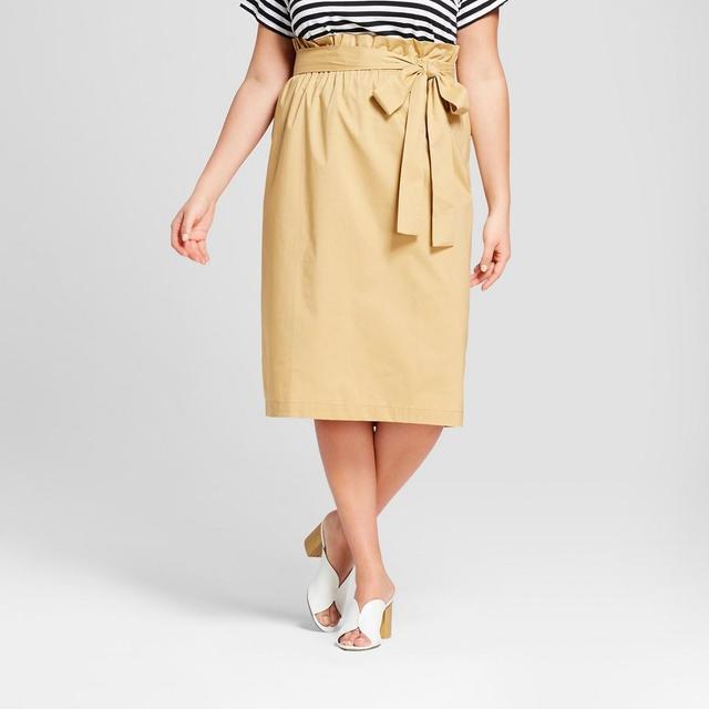 Belted Paperbag Skirt