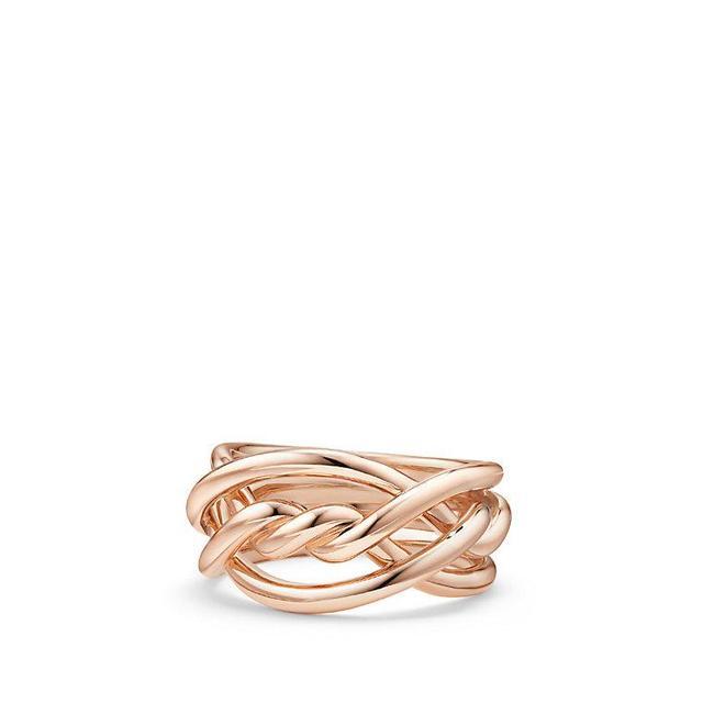 David Yurman Continuance Ring In 18K Rose Gold, 11.5Mm