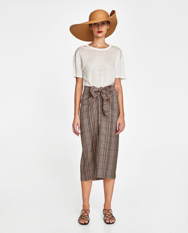 Zara Linen T-Shirt With Rips