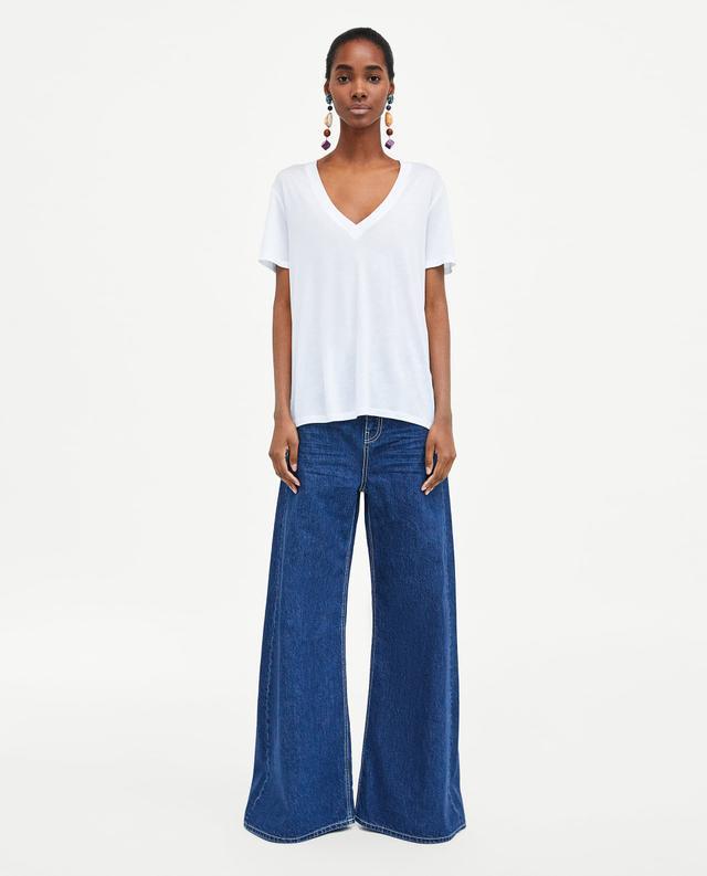 Zara Basic Loose-Fitting T-Shirt