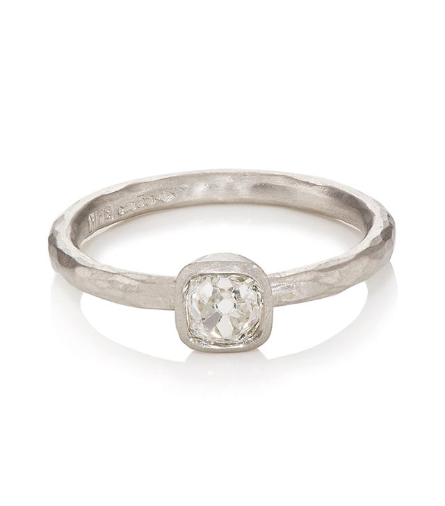 Women's Cushion-Shaped White Diamond Ring