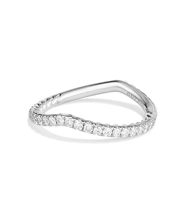 David Yurman Dy Crossover Pave Nesting Wedding Band With Diamonds In
