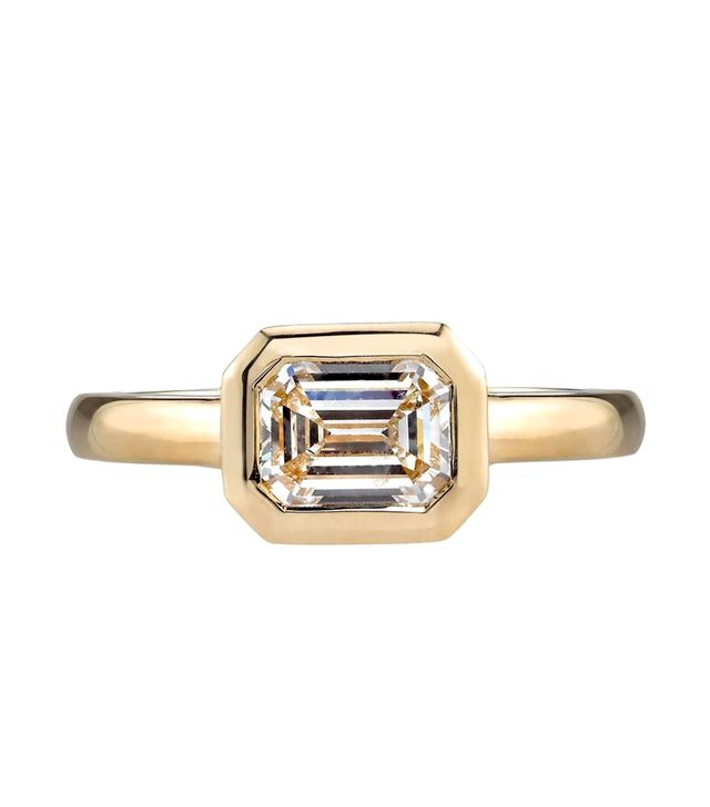 Single Stone Emerald Cut Ring