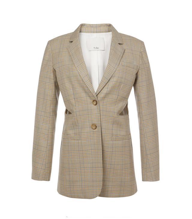 Cooper Silk Wool Cut Out Blazer