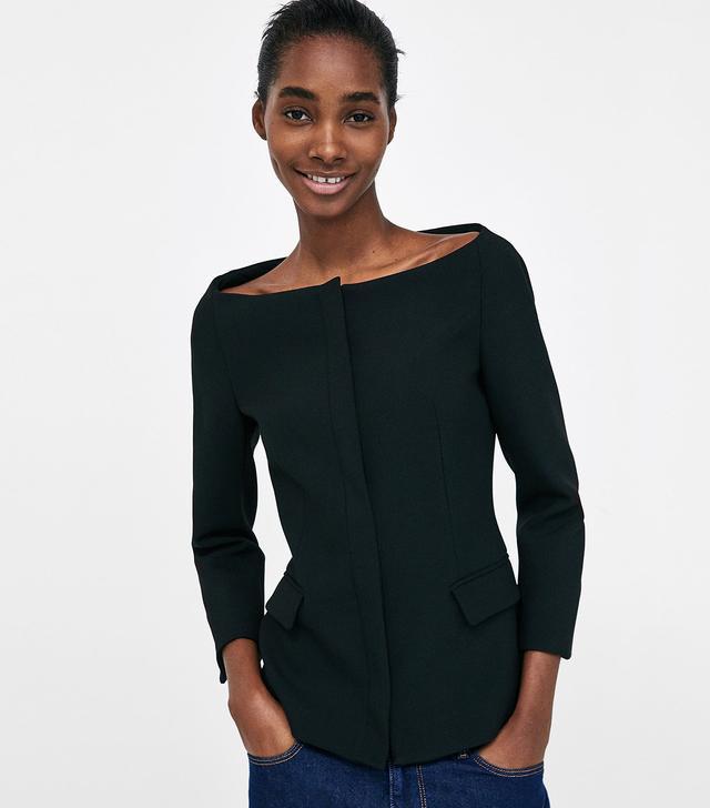 Zara Blazer With Open Neckline