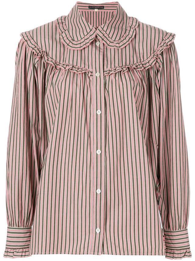 striped button shirt