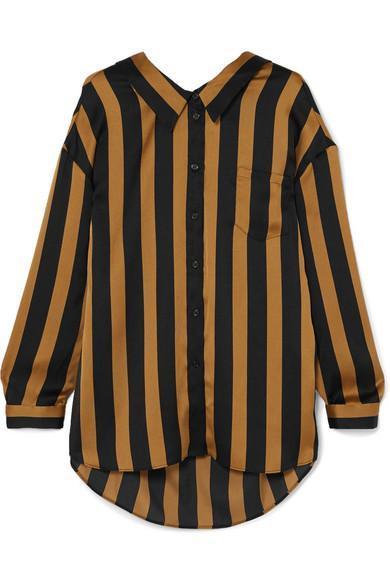 Nipella Striped Satin Blouse