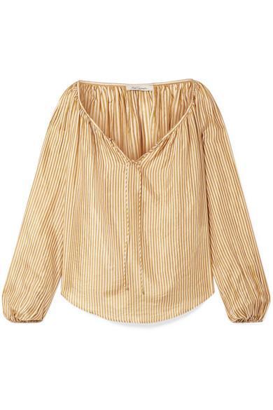 Sunny Striped Silk Blouse
