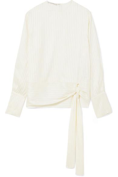 Striped Silk-jacquard Blouse