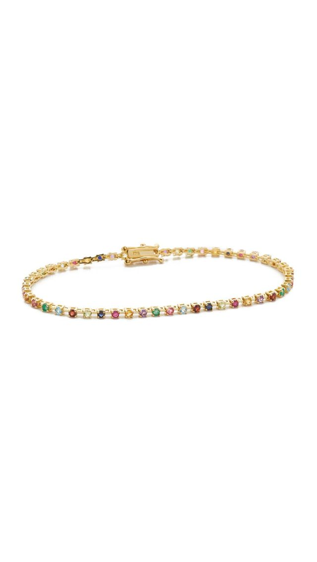 14k Gold Candy Crush Tennis Bracelet