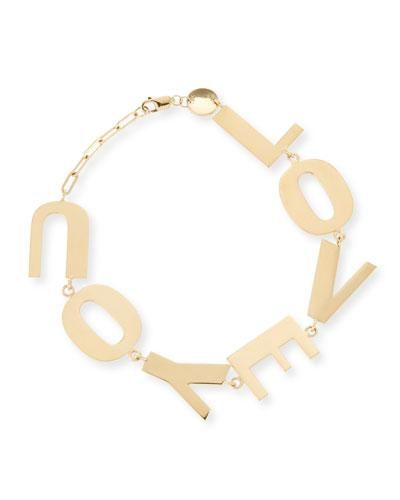 Jennifer Zeuner Love You Bracelet in 18K Gold Plate