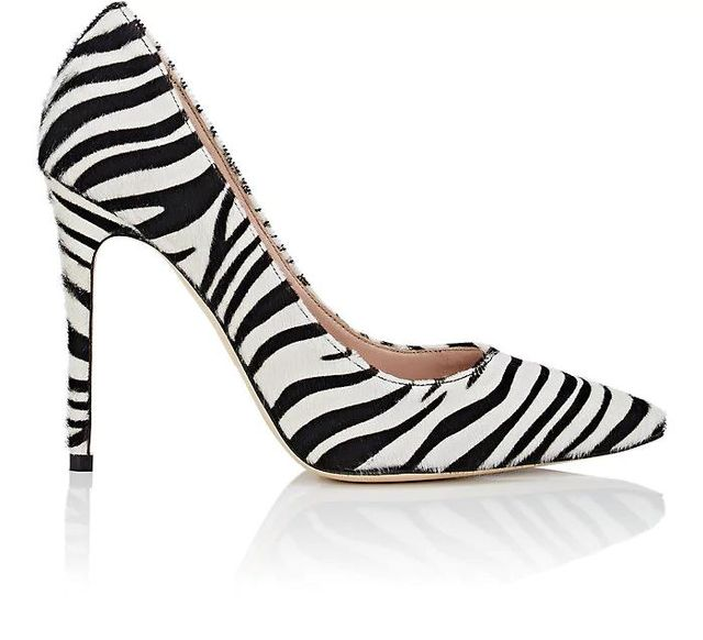 Women's Zebra-Print Calf Hair Pumps