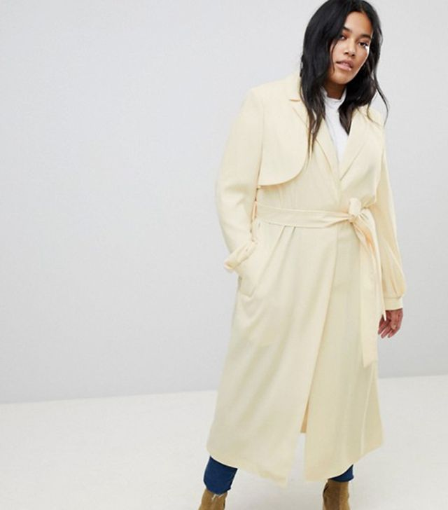 ASOS CURVE Crepe Duster Trench