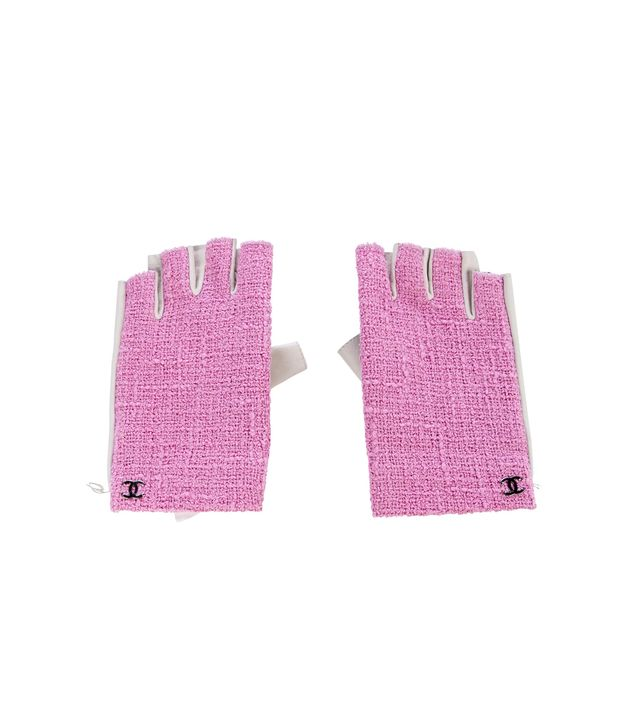 Chanel 2016 Tweed Fingerless Gloves