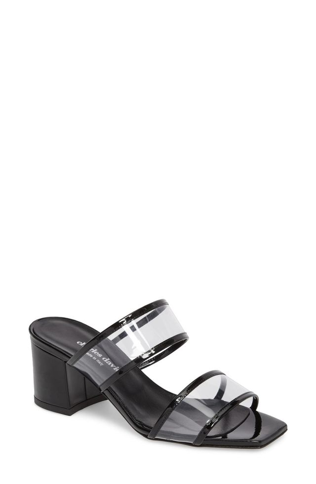 Cally Transparent Strap Slide Sandal