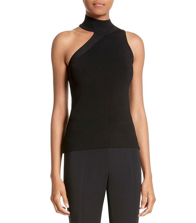 Women's Cushnie Et Ochs Lucia Mock Neck One-Shoulder Top