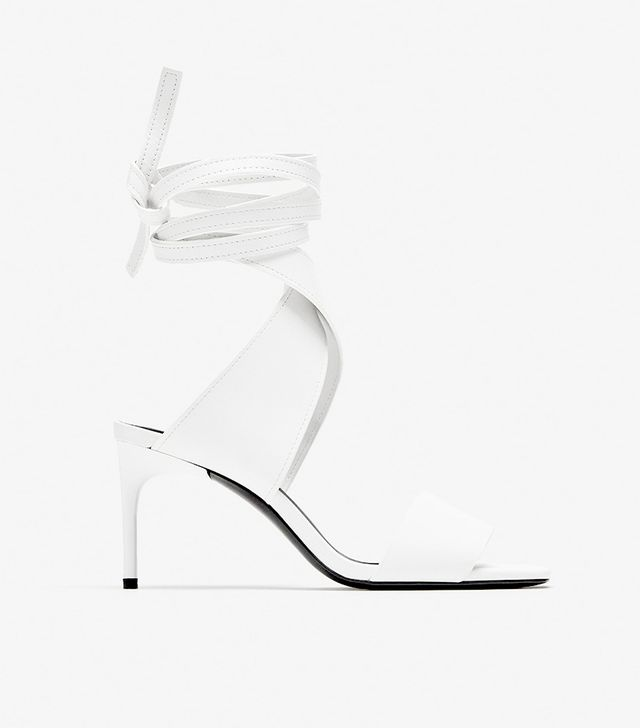 Zara Leather High Heel Sandals