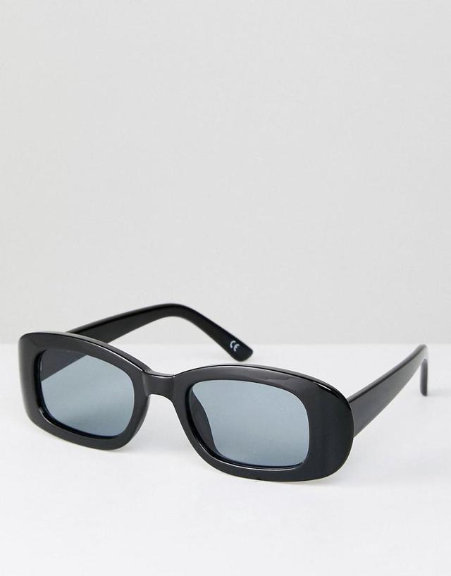 Small Square 90s Sunglasses In Black
