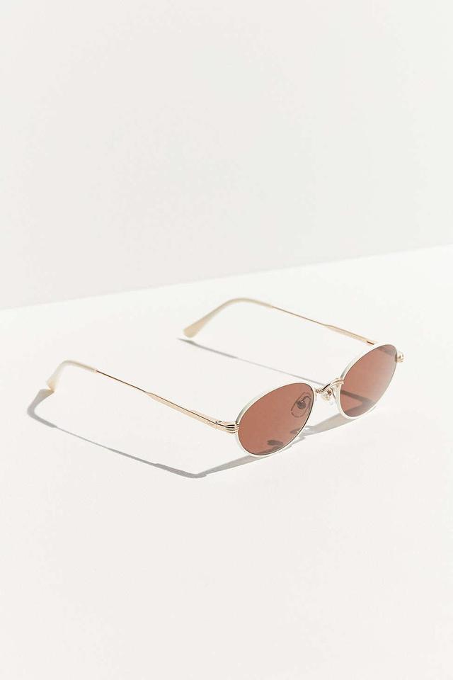 The New Riddim White Oval Sunglasses