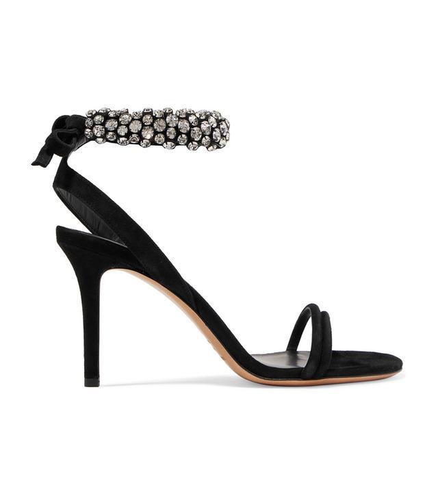 Alrin Crystal-embellished Suede Sandals