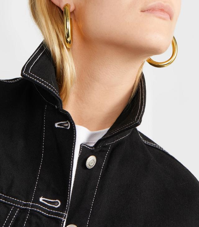 Curve Gold-tone Hoop Earrings
