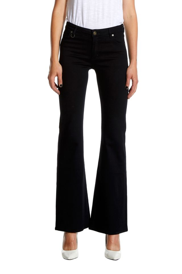Neuw Denim Kick Flare in Black Silk