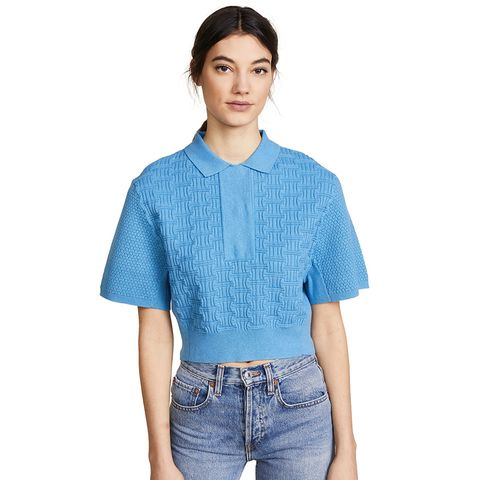 Cropped Collared Shirt