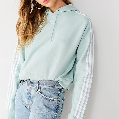 Adicolor 3 Stripes Cropped Hoodie Sweatshirt