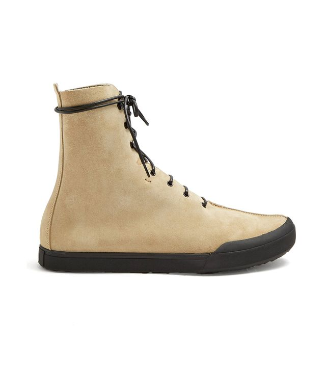 Lace-up suede ankle-boots