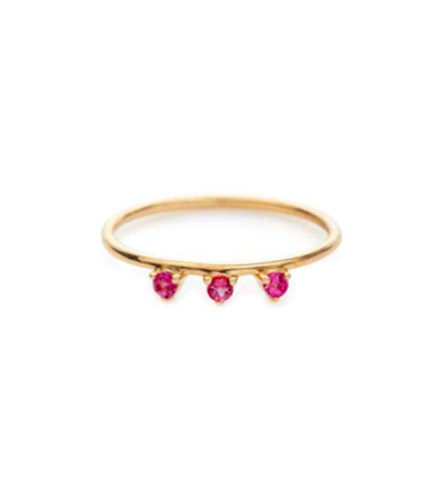 Stella and Bow Lily Ring (Ruby)