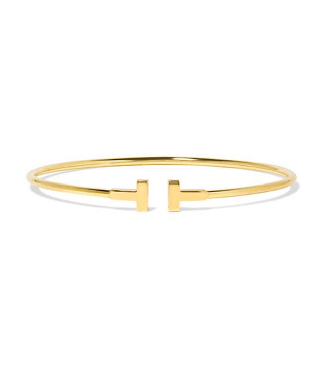 Tiffany & Co. T Wire Narrow 18-Karat Gold Bracelet