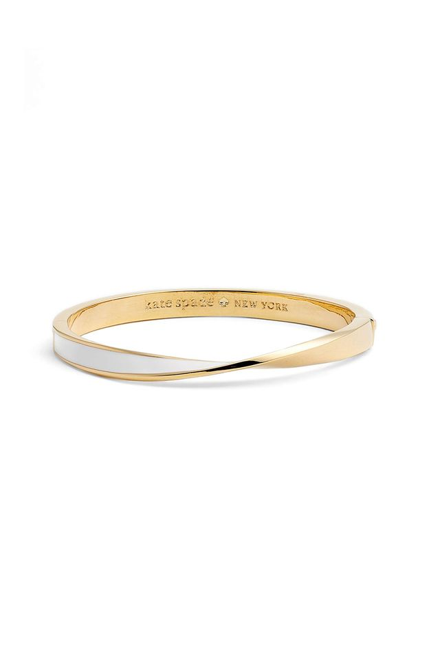Women's Kate Spade New York Do The Twist Enamel Hinge Bangle
