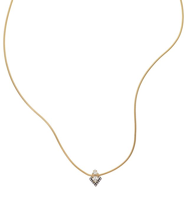 Jemma Wynne Revival Diamond Shield Necklace