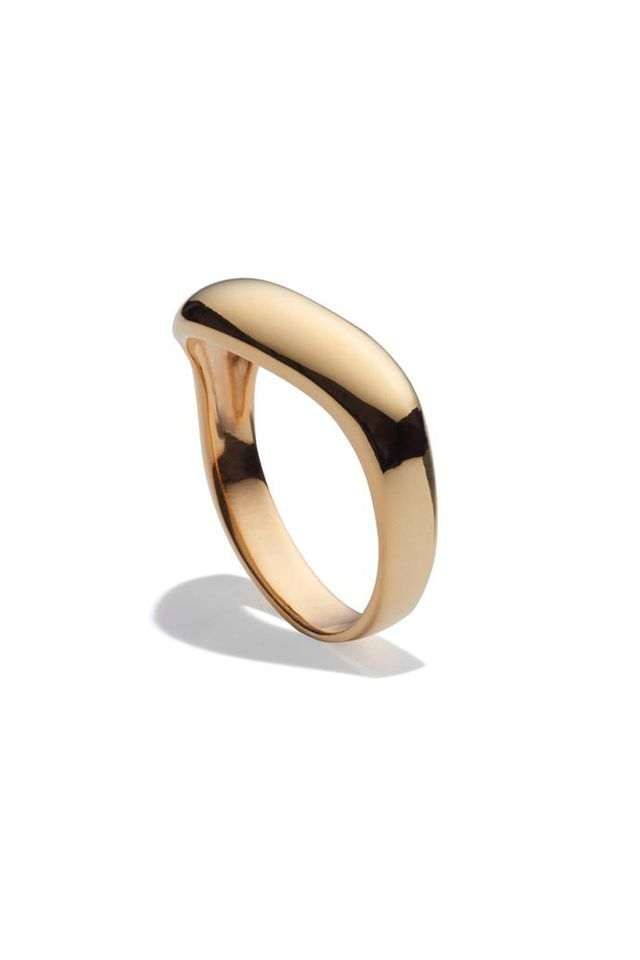 Agmes Single Wave Ring